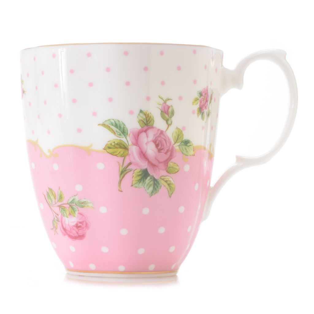 446-891 - Royal Albert® New Country Roses Cheeky Pink 14 oz Bone China 22K Gold Plated Mug