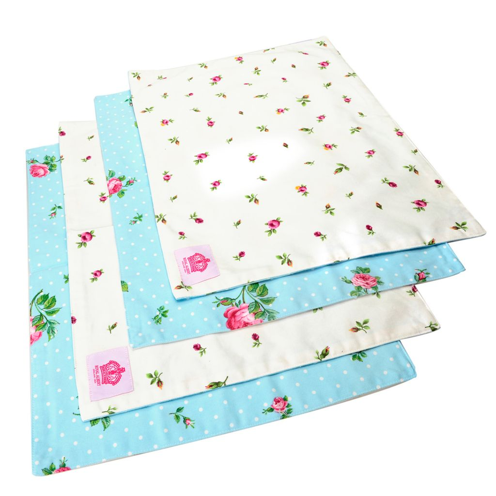 446-892 - Royal Albert® New Country Roses Rose Buds & Polka Rose Set of Four Cotton Placemats