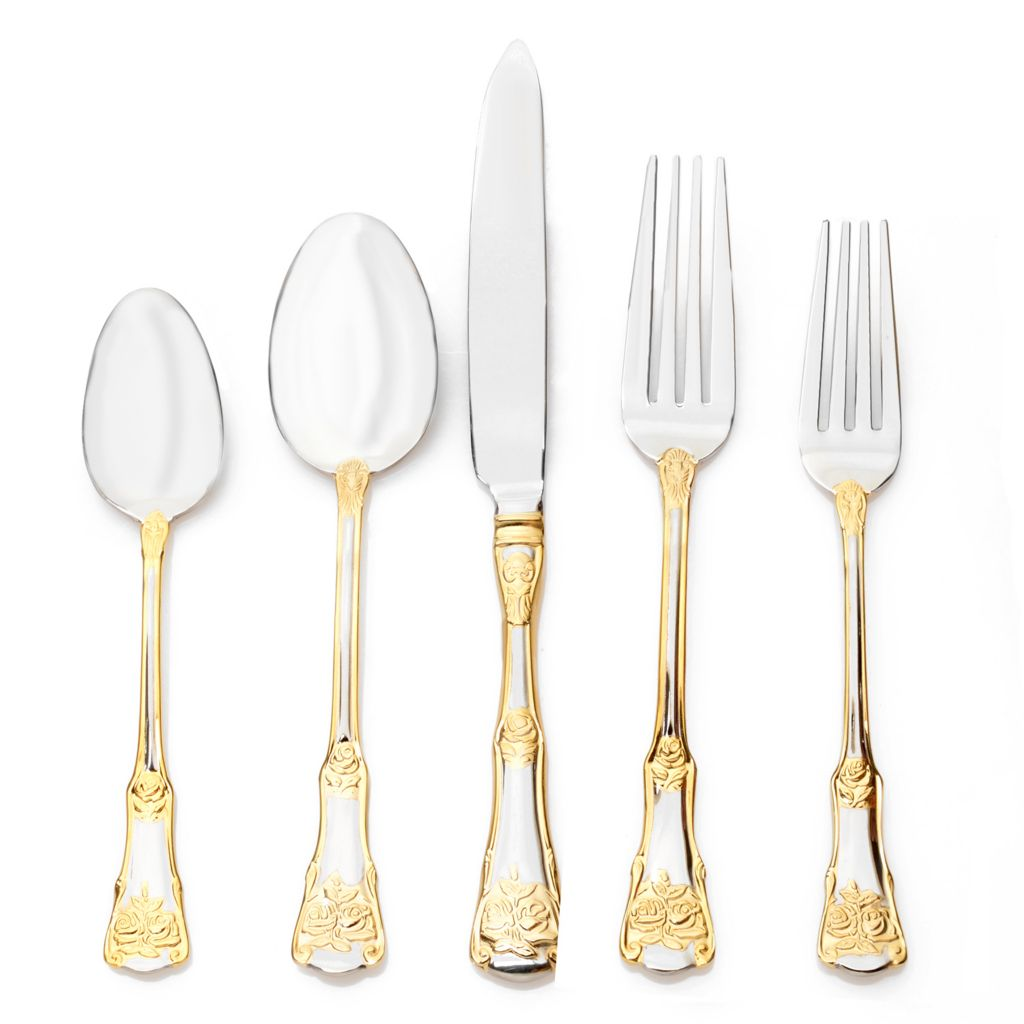 446-894 - Royal Albert® Old Country Roses 20-Piece 18/10 Stainless Steel Flatware Set