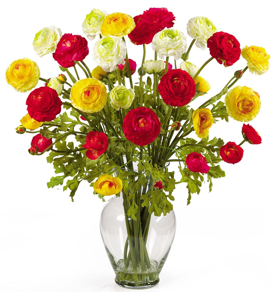 "446-957 - 24"" Ranunculus Liquid Illusion Silk Flower Arrangement"