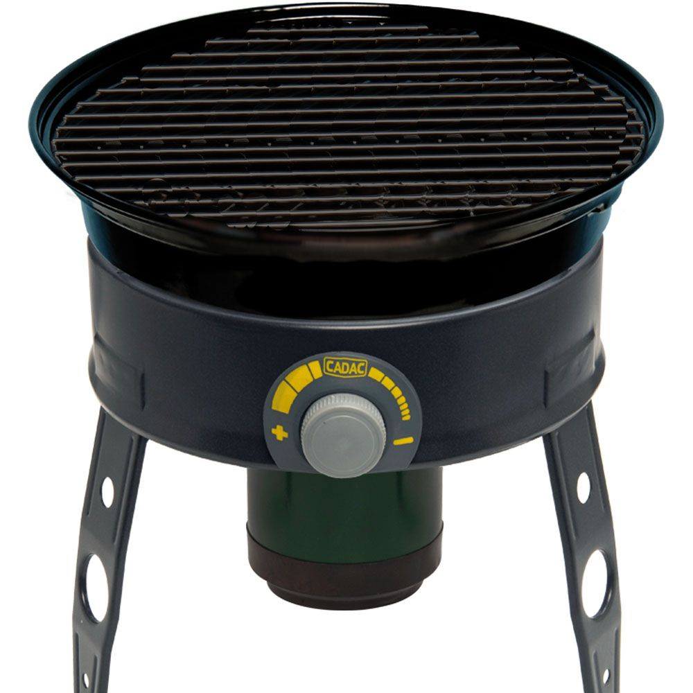447-023 - Cadac Safari Chef Portable Gas Grill w/ Interchangeable Cooking Surfaces, Lid & Travel Bag