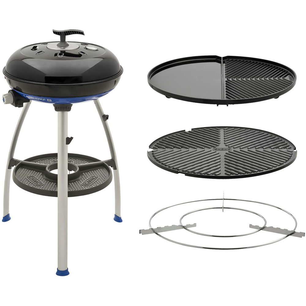 447-033 - Cadac Carri Chef 2 Portable 3-in-1 Gas Grill w/ Stand & Travel Bag