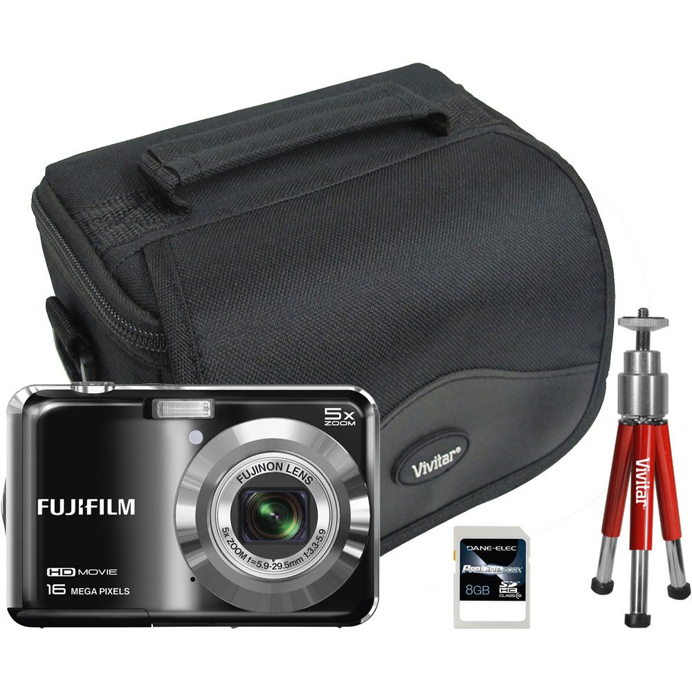 447-108 - Fujifilm FinePix 16MP LCD Digital Camera w/ Bag, Tripod & 8GB Memory Card