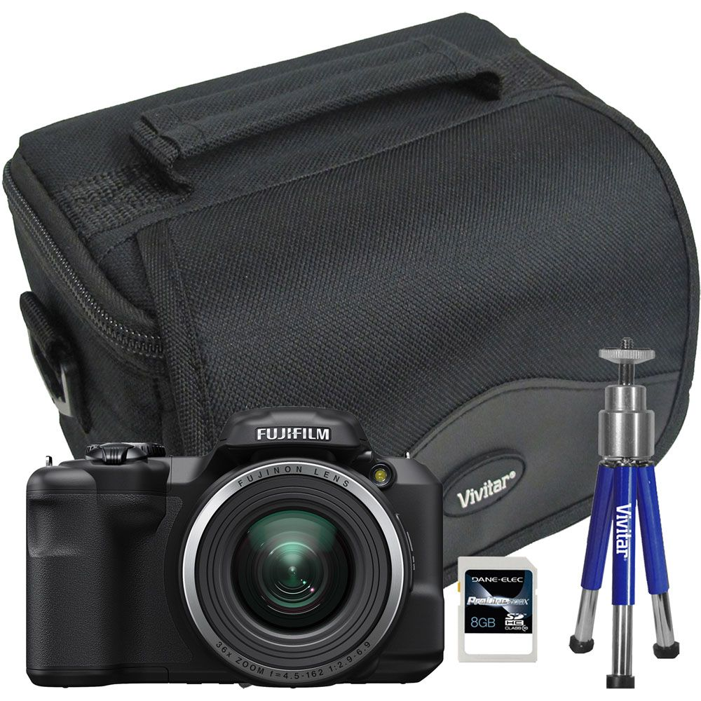 447-117 - Fujifilm FinePix 16MP Digital Camera w/ Bag, Tripod & 8GB Memory Card