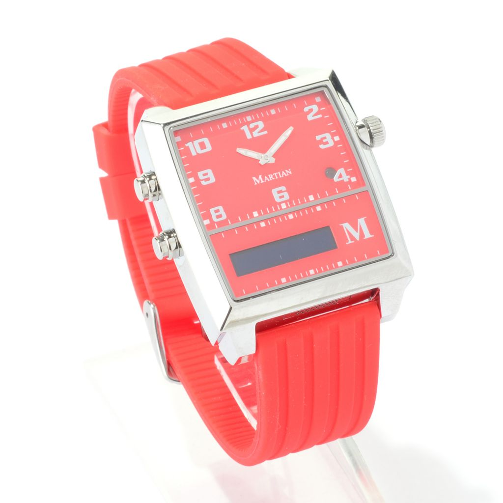 447-123 - Martian G2G Series Analog Quartz Voice Command Watch w/ Micro USB Port