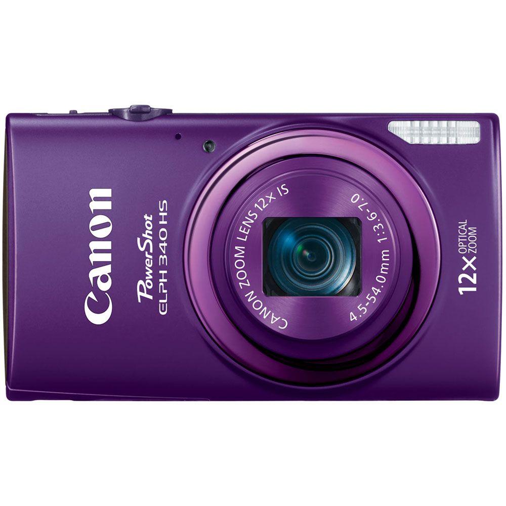 447-134 - Canon PowerShot ELPH 340 HS 16MP Digital Camera w/ 12x Zoom & Built-in Wi-Fi