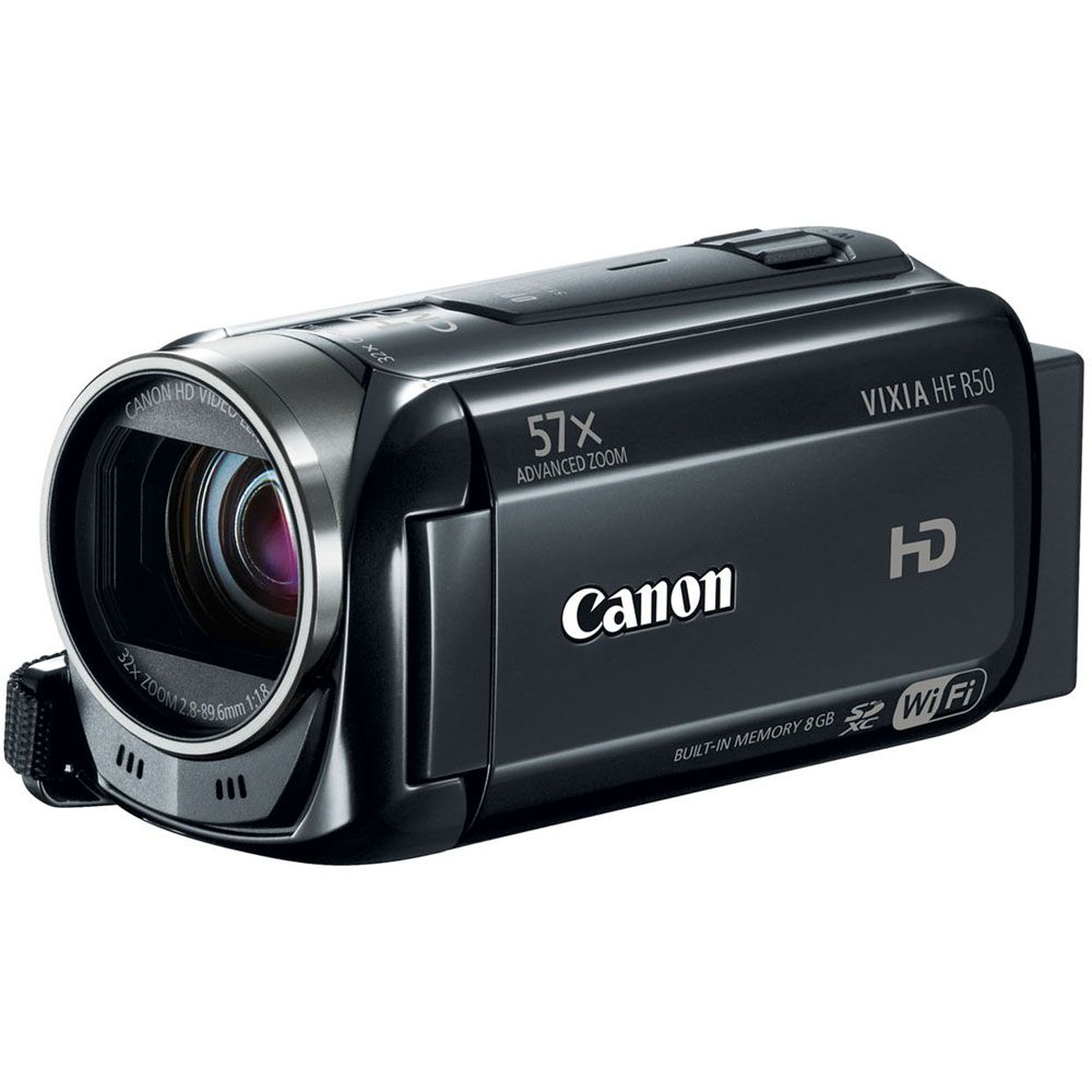 447-140 - Canon VIXIA HF R50 8GB HD Camcorder w/ 57x Advanced Zoom & Built-in Wi-Fi