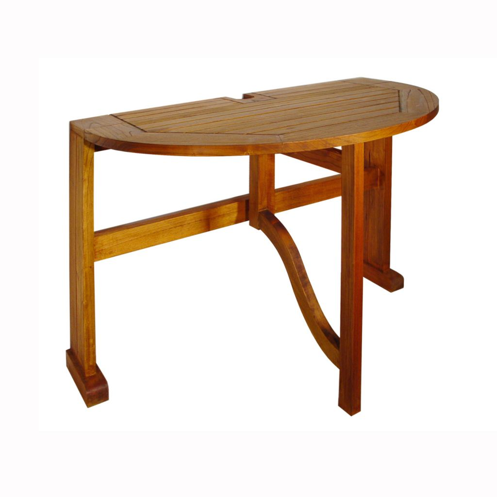 "447-161 - Terrace Mates® 36"" Half Round Gate Leg Drop Leaf Table"