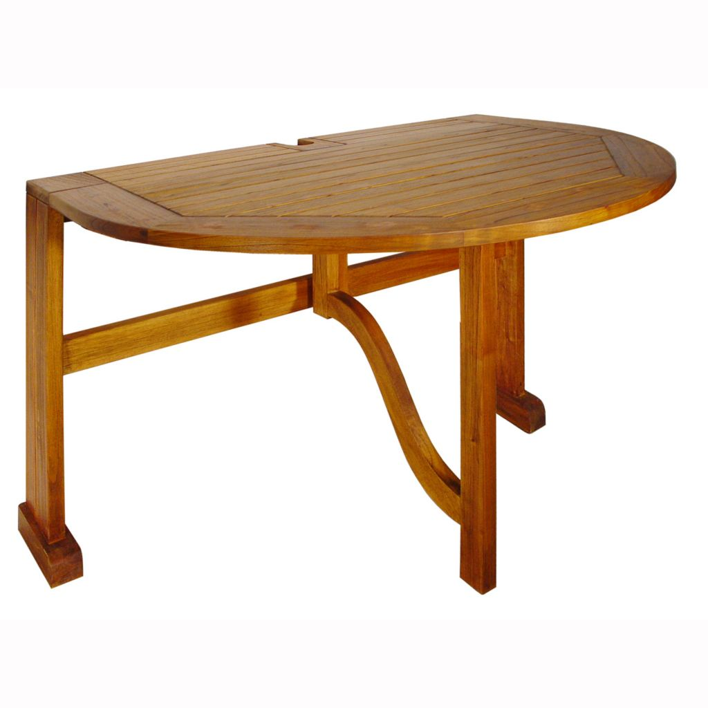 "447-163 - Terrace Mates® 42"" Half Oval Gate Leg Drop Leaf Table"