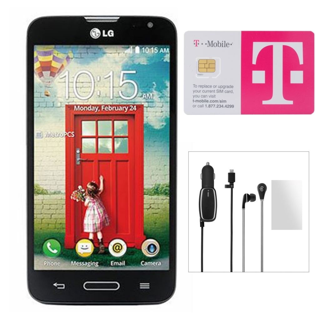 447-191 - T-Mobile LG Optimus L90 4G Smartphone w/ No Annual Service Contract