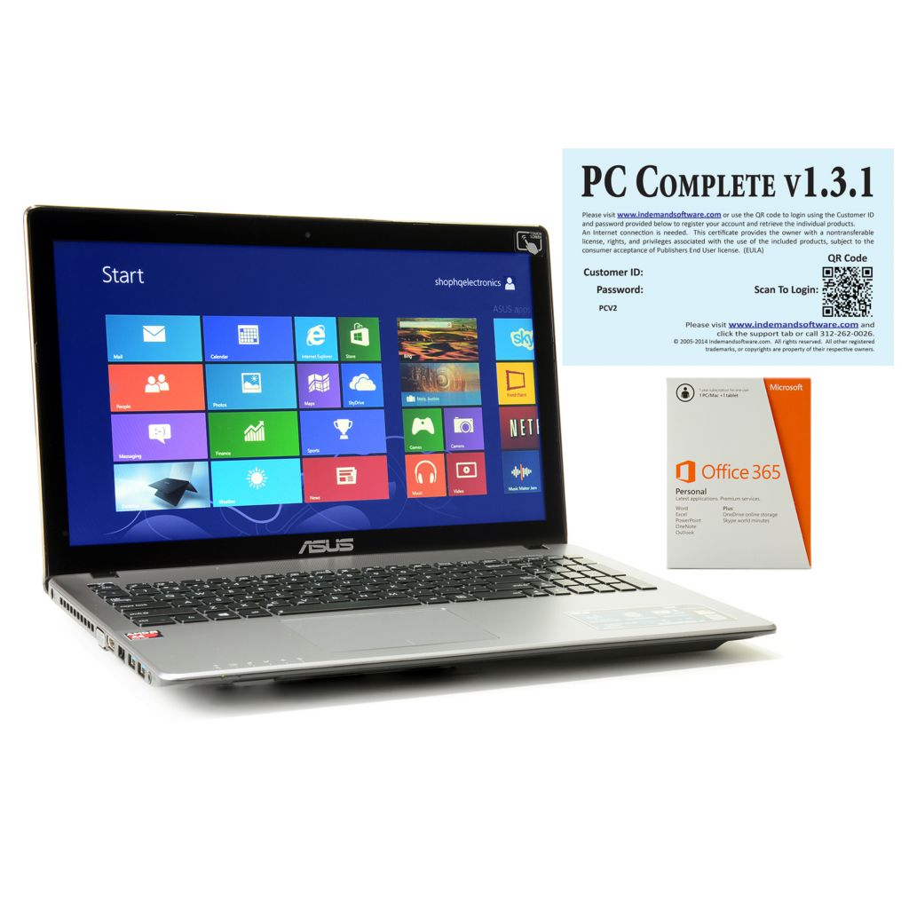 "447-193 - ASUS Touch Screen 6GB RAM/750GB HDD 15.6"" Notebook w/ Office, Software & Damage Protection"