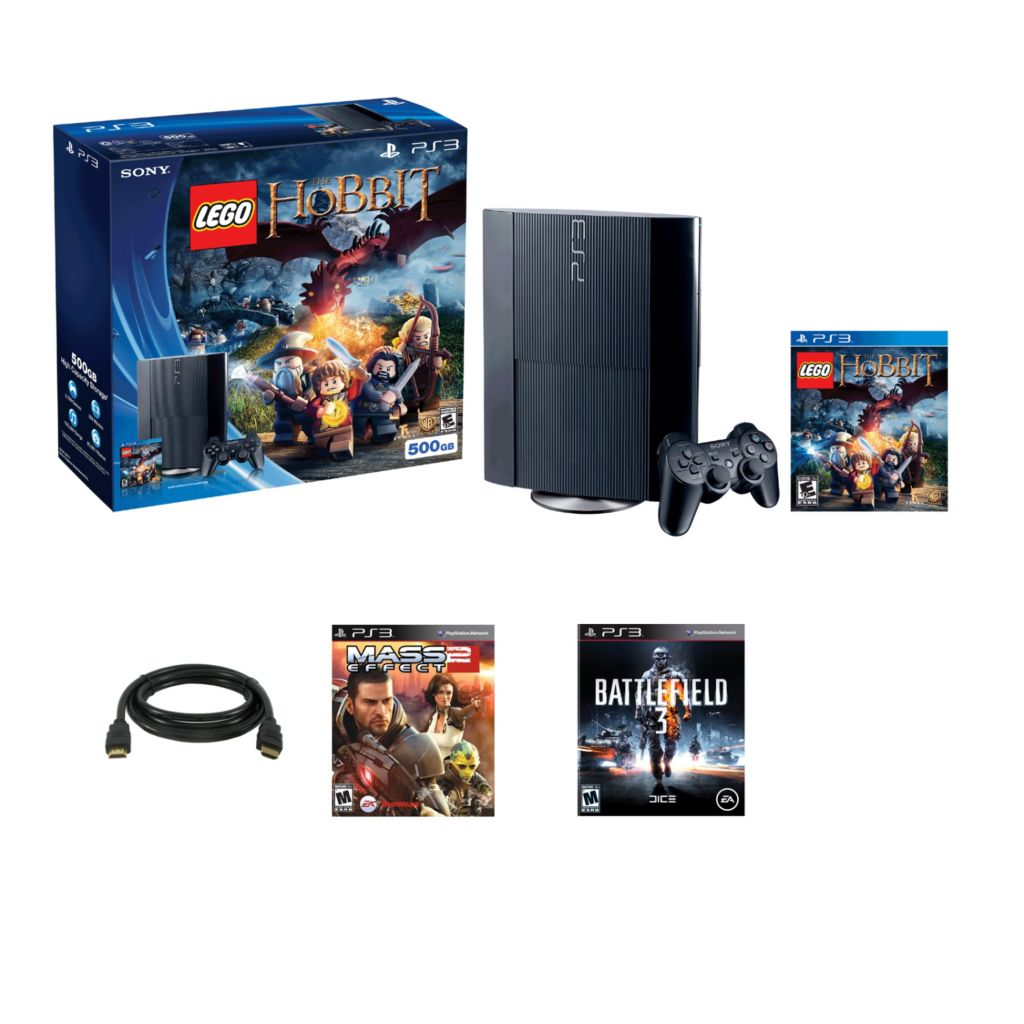 447-196 - Playstation 3 500GB Hobbit System w/ Battlefield 3 & Mass Effect 2