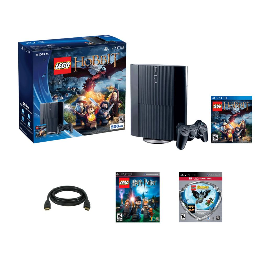 447-197 - Playstation 3 500GB Hobbit System w/ LEGO Harry Potter & LEGO Batman