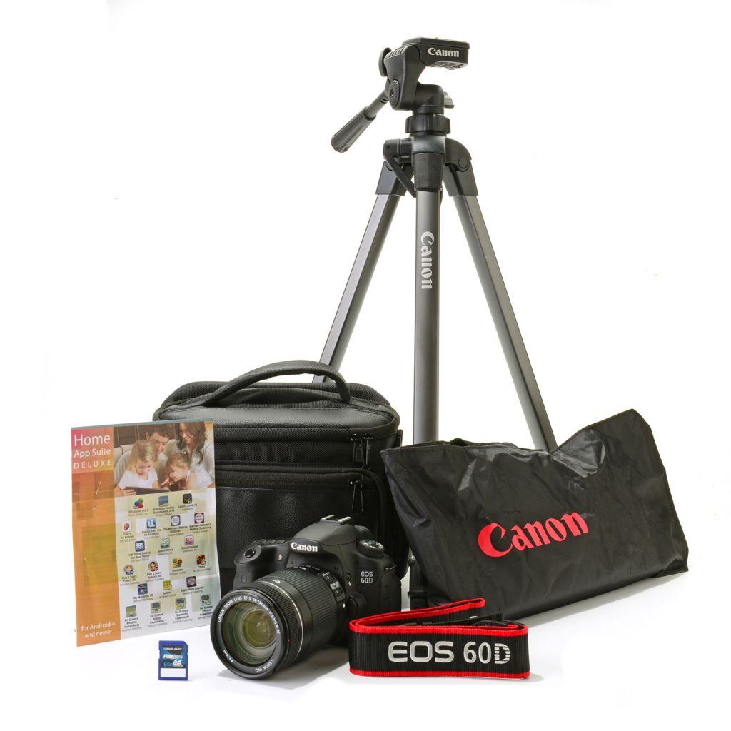 447-243 - Canon EOS 60D Digital SLR Camera w/ EF-S 18-135mm Lens, Camera Bag & Accessories