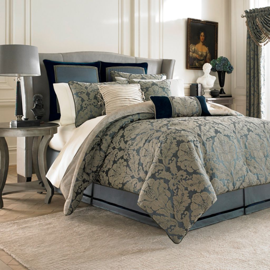 447-250 - Croscill Floral Damask Four-Piece Comforter Set