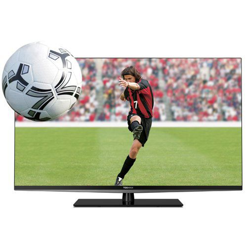 "447-288 - Toshiba 55"" 1080p 120Hz 3D LED-Backlit Smart HDTV w/ Built-in Wi-fi & 3D Glasses"