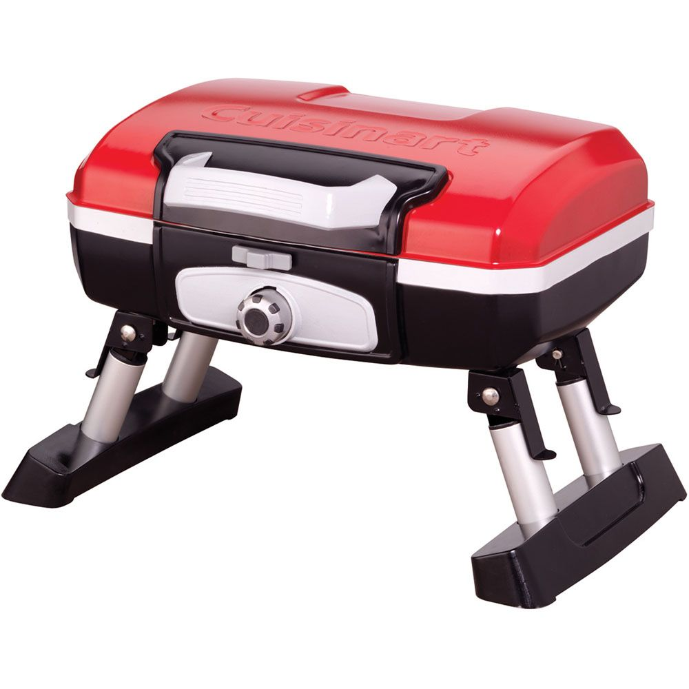 "447-306 - Cuisinart Petit Gourmet 18"" Portable Tabletop Outdoor LP Gas Grill w/ VersaStand"