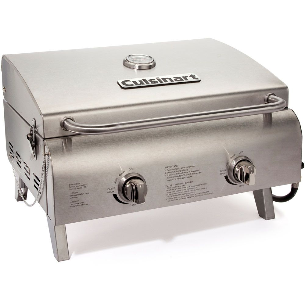 """447-310 - Cuisinart Chef's Style 18"""" Tabletop Gas Grill"""