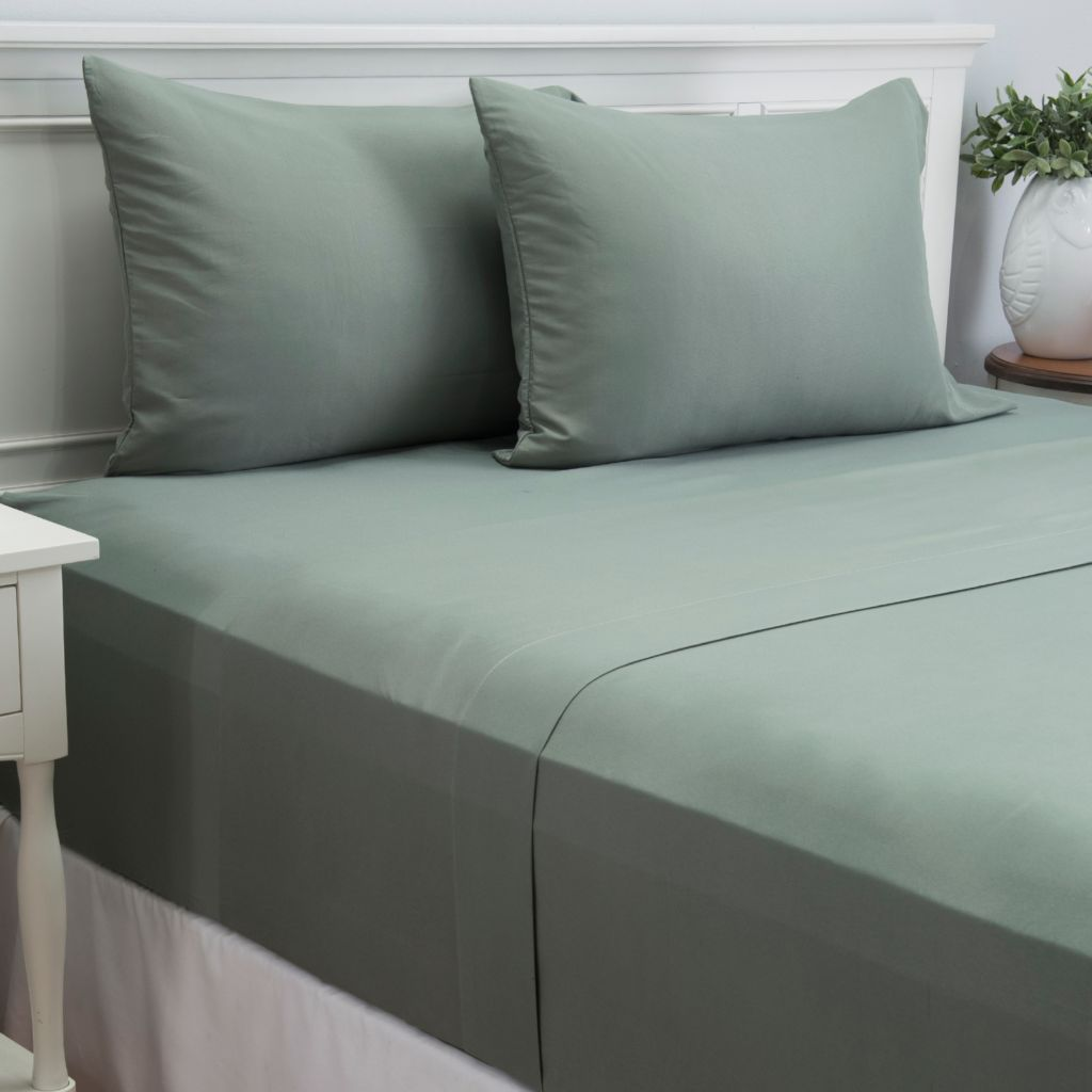 447-343 - Cozelle® Microfiber Solid Four-Piece Sheet Set