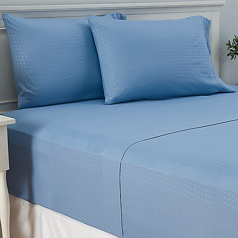 447-346 - Cozelle® Microfiber Embossed Dot Four-Piece Sheet Set