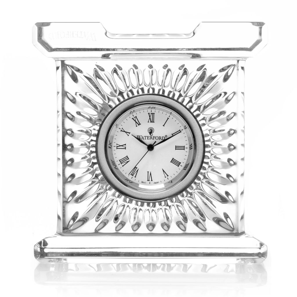 "447-362 - Waterford® Crystal 3.25"" Column-Style Medallion Clock"