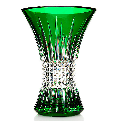 447-366 - Waterford Crystal Lismore Choice of Emerald or Ruby 8'' Flared Vase