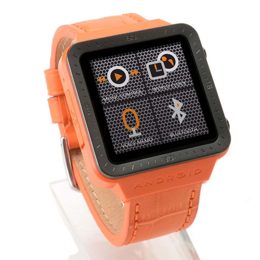 "447-376 - Android 1.54"" LCD Touch Screen Digital Display Quartz SmartWatch™ w/ Micro-USB Port"