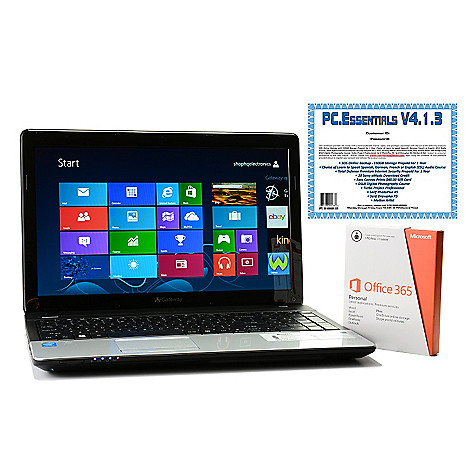 447-436 - Gateway 15.6'' LED 4GB RAM/500GB HDD Windows® 8 Wi-Fi Notebook w/ Office & Software