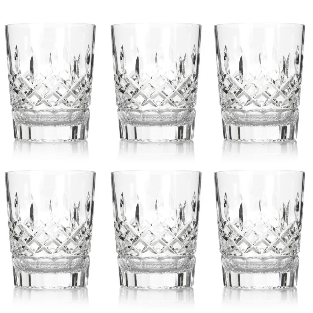 447-446 - Waterford® Crystal Lismore Set of 2, 4 or 6 Diamond & Wedge Cut 12 oz Glasses