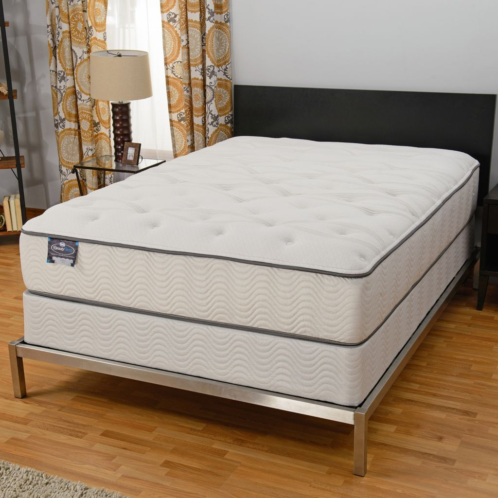 "447-529 - Simmons® BeautySleep® ""Persuasion"" Plush Mattress Set"