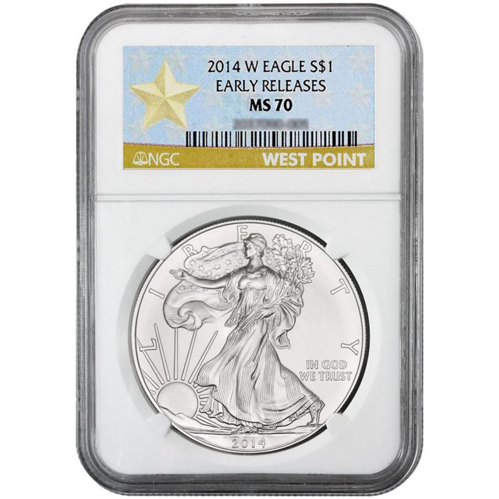 447-531 - 2014 $1 Silver American Eagle NGC West Point Early Release Coin