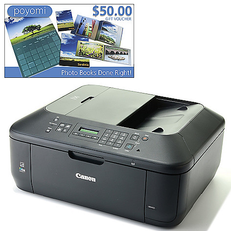 447-747 - Canon PIXMA Wi-Fi Photo All-in-One Inkjet Printer w/ LCD Display & $50 Poyomi Voucher