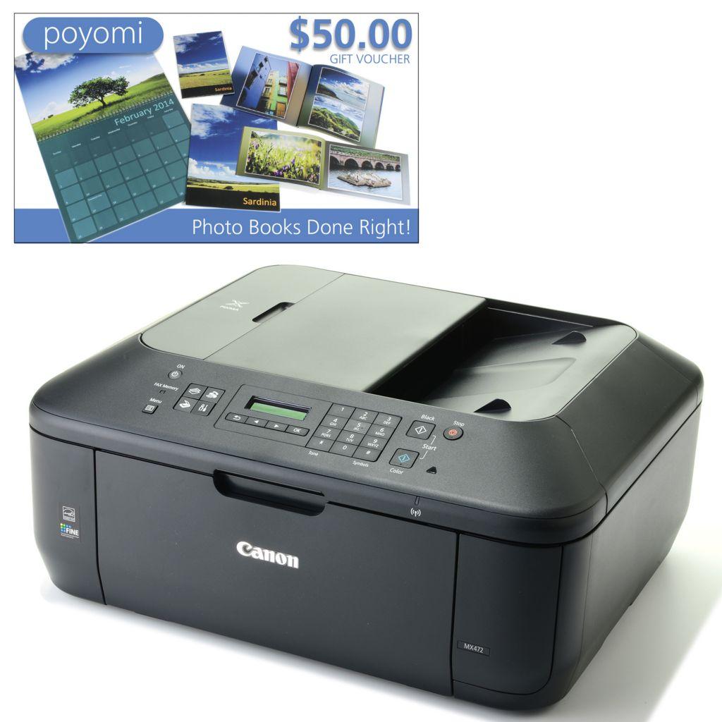 447-747 - Canon PIXMA Wi-Fi Photo All-in-One Inkjet Printer w/ LCD Display & $50 Poyomi Voucher