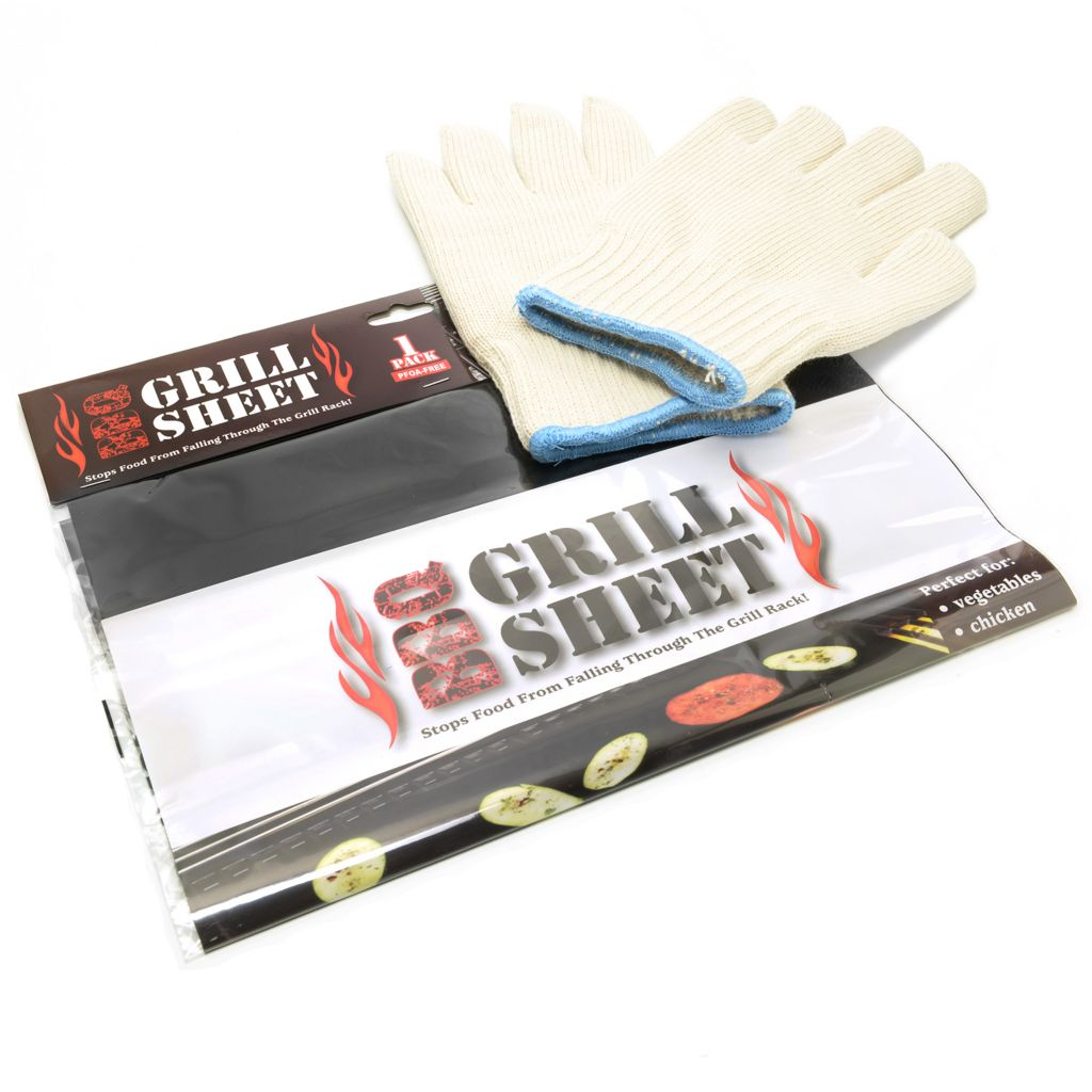 447-751 - Multi Purpose Amazing Gloves w/ Nonstick BBQ Oven/Grill Sheet