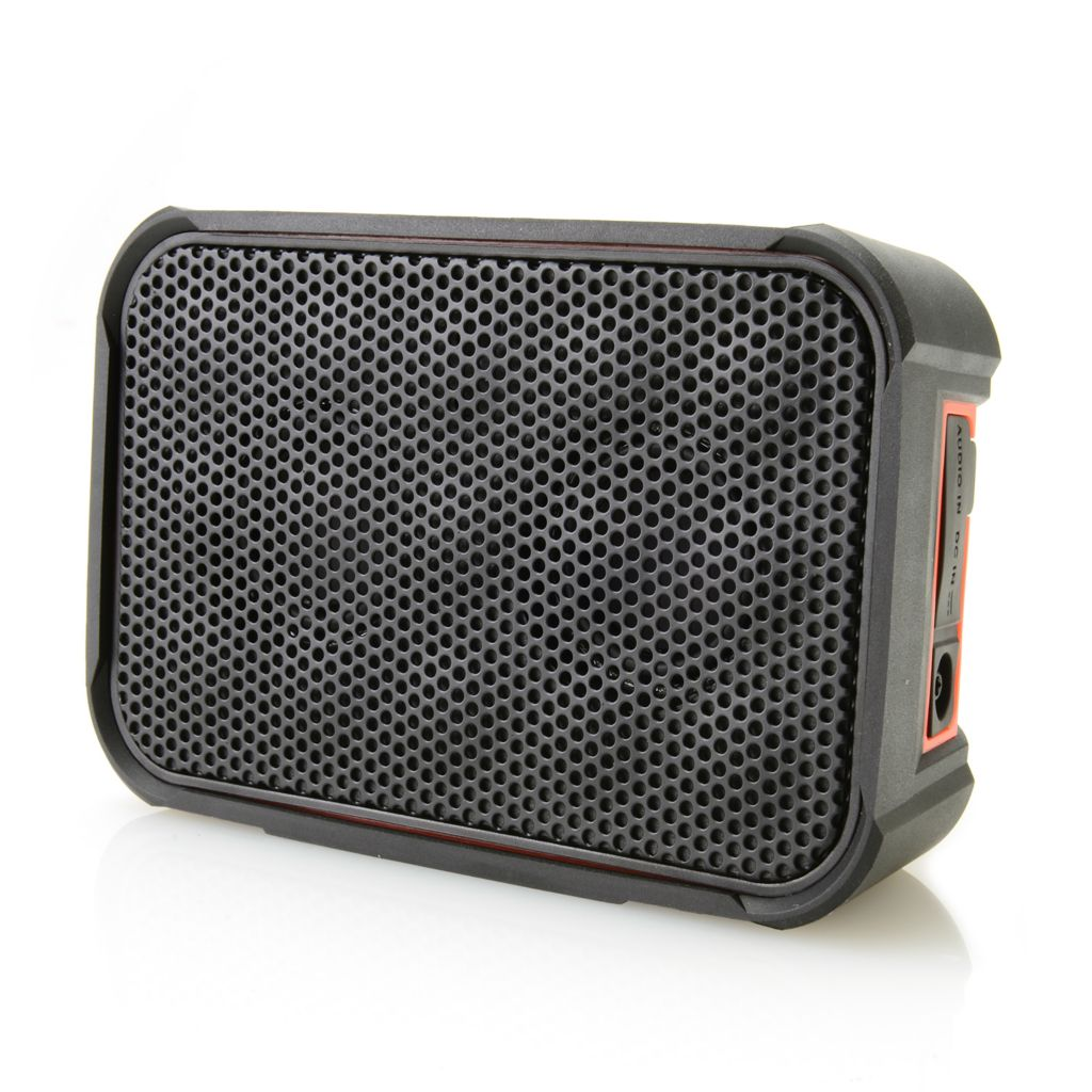 447-762 - Cobra® Airwave™ Water-Resistant Rugged Bluetooth® Speaker w/ Microphone
