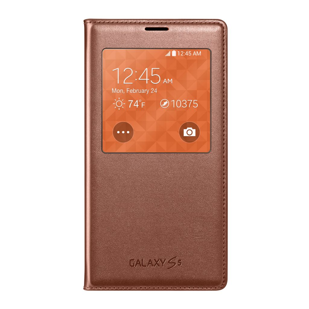 447-899 - Samsung Galaxy S5 S-View Rose Gold-tone Flip Cover