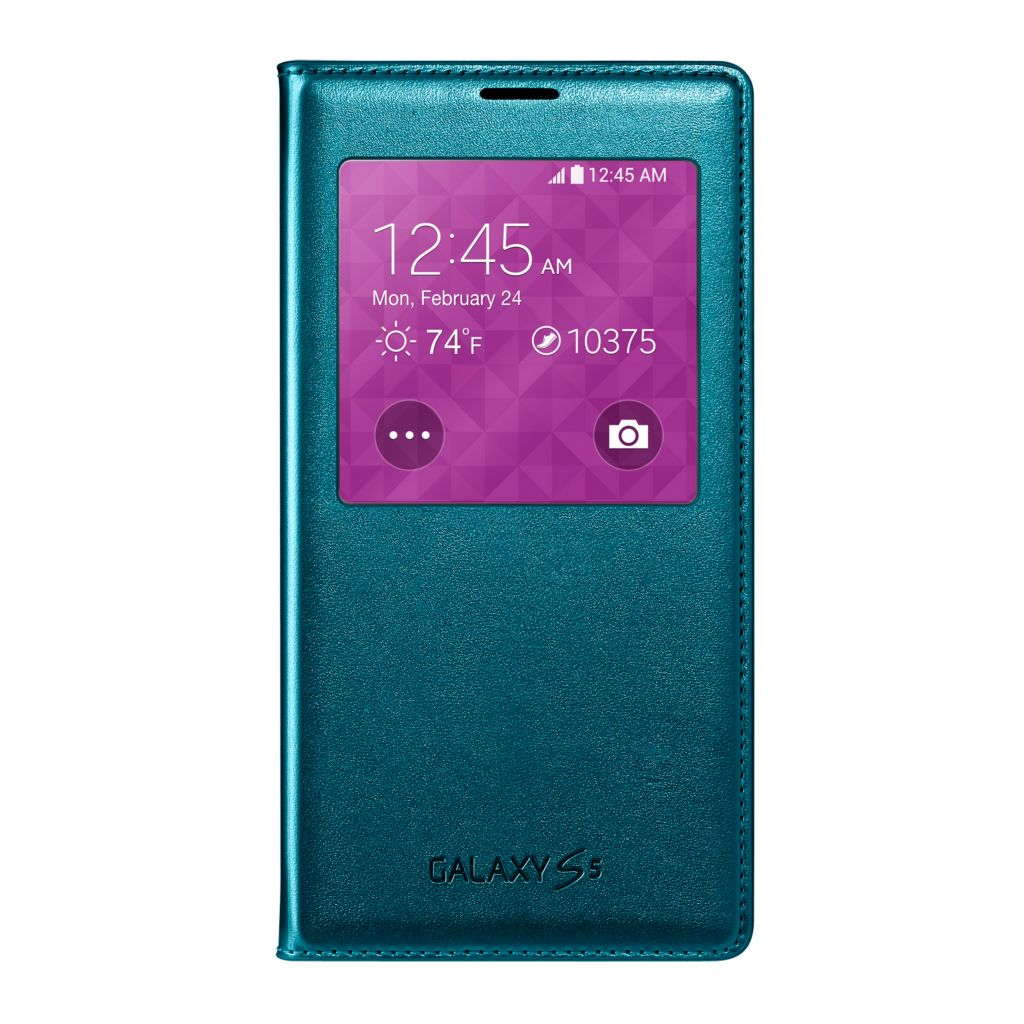 447-901 - Samsung Galaxy S5 S-View Green Flip Cover
