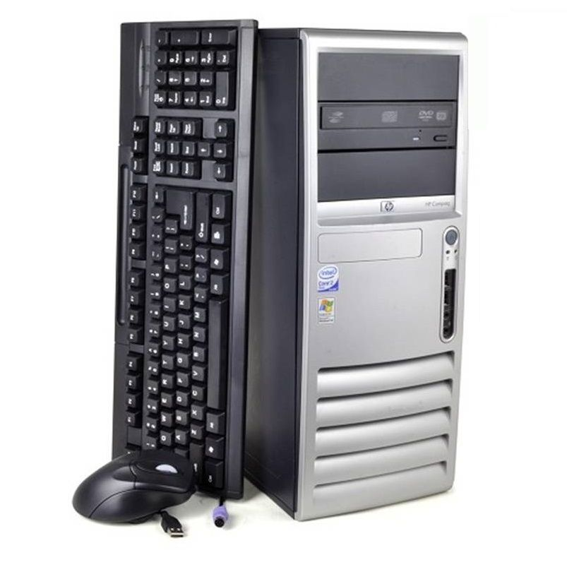 447-966 - HP Compaq Intel Core 2 Duo 1.8GHz 2GB RAM 80GB HDD Desktop - Refurbished