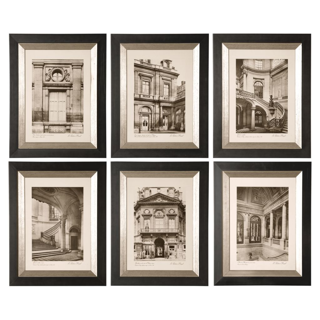 448-110 - Uttermost Set of Six Paris Scene Framed Art