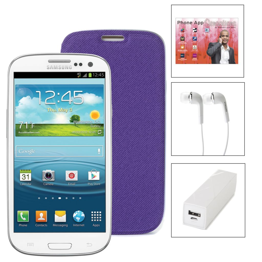 448-136 - Samsung Galaxy S3 Virgin Mobile No-Contract 4G Smartphone w/ Accessories