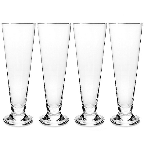 448-151 - Marquis by Waterford Set of Four 16 oz Crystalline Pilsner Glasses