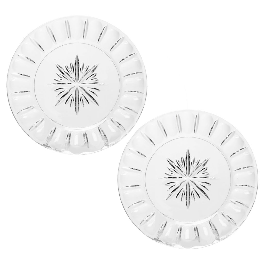 "448-153 - Marquis® by Waterford® Bolton Set of Two 8"" Crystal Accent Plates"