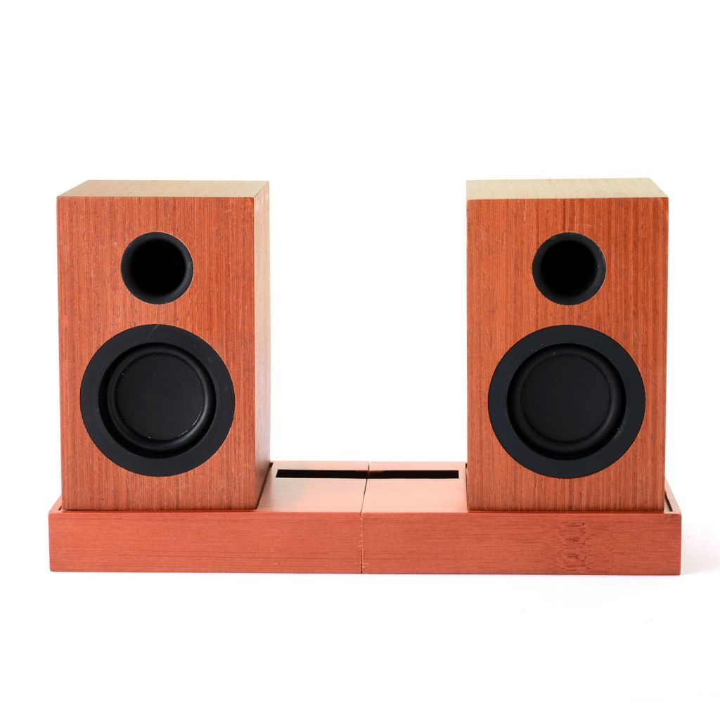 448-155 - altaz™ Micro-Fi Bluetooth® Speaker Pair w/ Stand & Rechargeable Battery