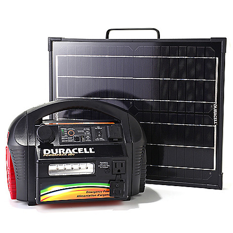 448-164 - Duracell® 300W AC/DC Portable Powerpack w/ 20W Solar Panel Generator