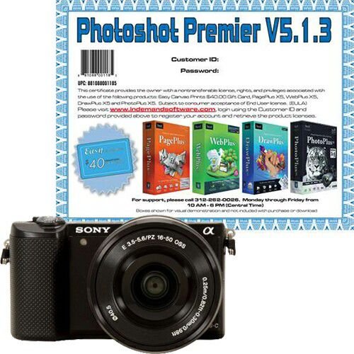 448-266 - Sony 20.1MP Mirrorless 3X Optical Zoom DSLR Camera w/ 16-50mm Lens & Software Download