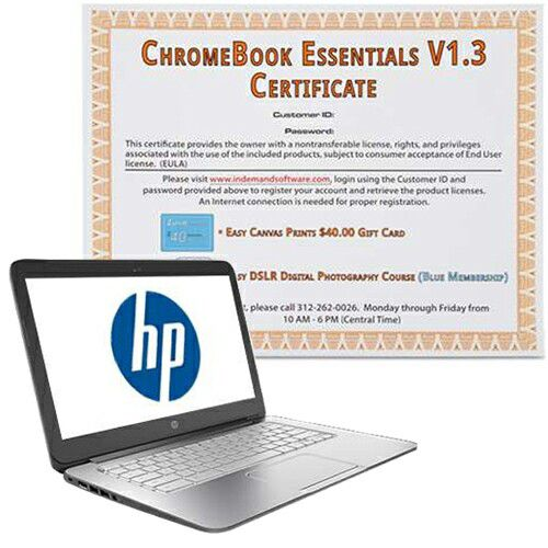 "448-279 - HP 14"" HD LED 1.4GHz Intel Celeron 16GB SSD 4GB RAM Chromebook 14 Notebook w/ Software Download"