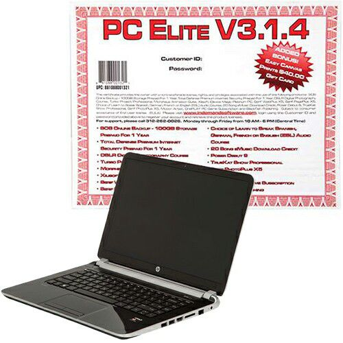 "448-280 - HP Pavilion 14"" Touch Screen LED 1.7GHz AMD Quad-Core 640GB HDD 6GB Notebook w/ Software Download"