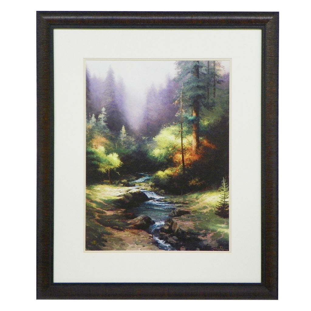 448-318 - Thomas Kinkade Framed Matte Print - Signed by Thomas Kinkade