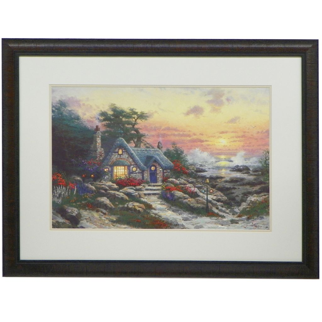 "448-319 - Thomas Kinkade Choice of 18"" x 27"" Framed Matte Print -Signed by Thomas Kinkade"