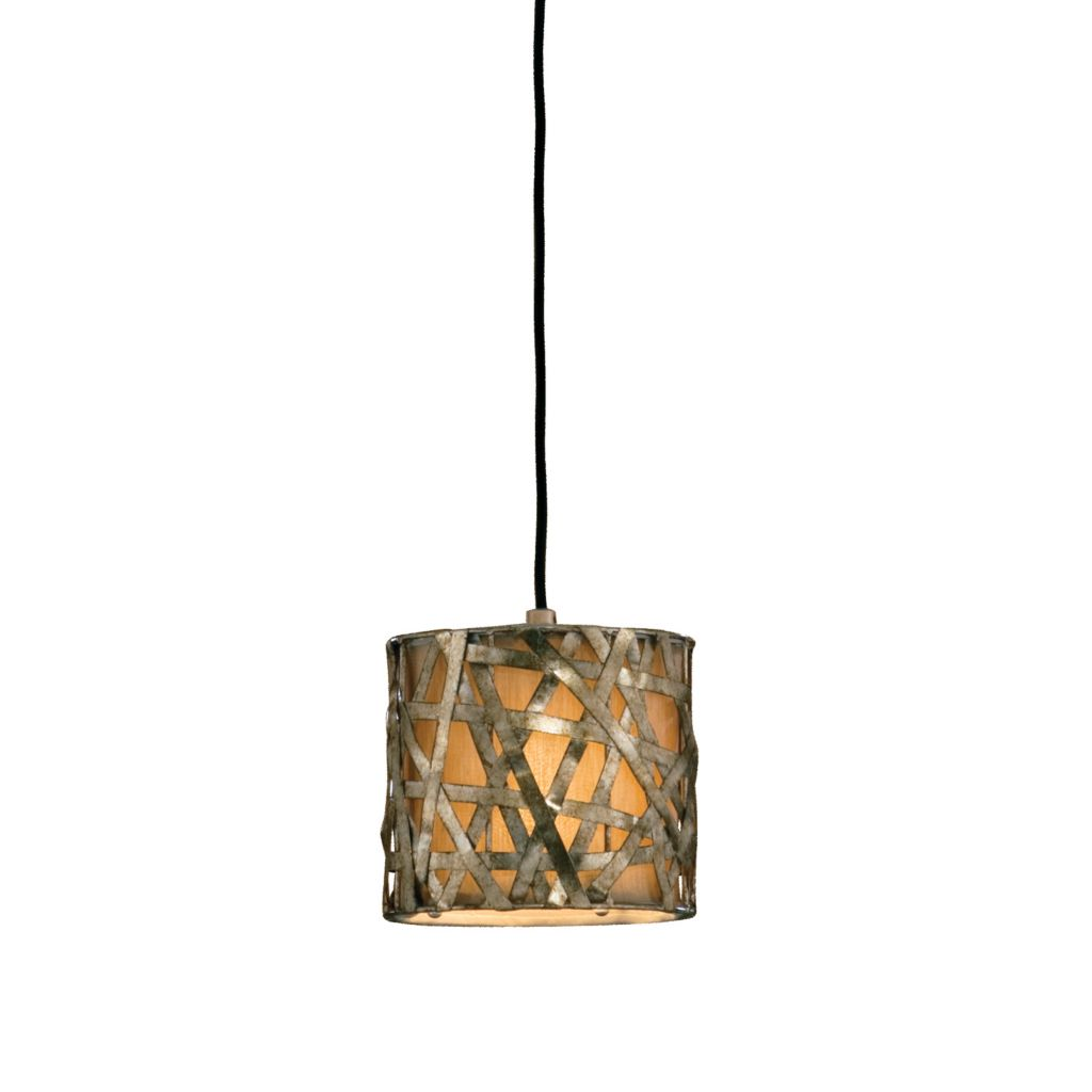 "448-349 - Uttermost 8"" Alita Mini Drum Pendant Lamp"